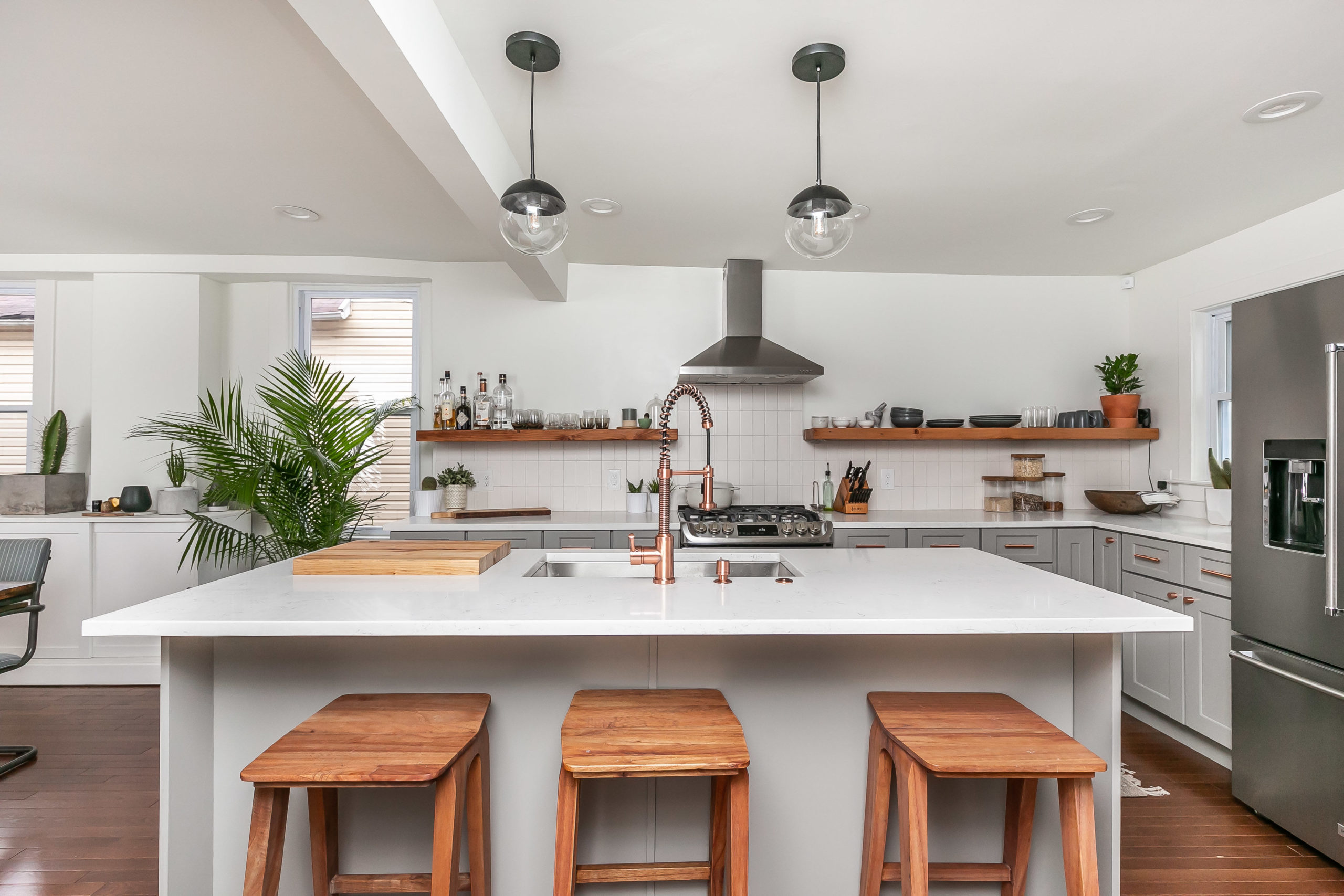 A kitchen remodel in a full home renovation by Byrd Design and Build